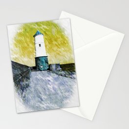 The Lighthouse at Berwick. Stationery Cards