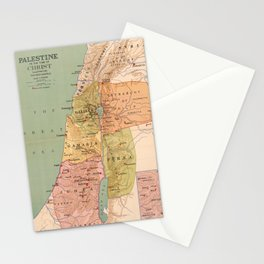 Map of Palestine in the Time of Christ (to 70 A.D.) Stationery Cards