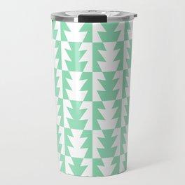 Art Deco Jagged Edge Pattern Mint Green Travel Mug