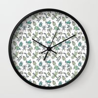 bugs Wall Clocks featuring Bugs by Jen Gottlieb