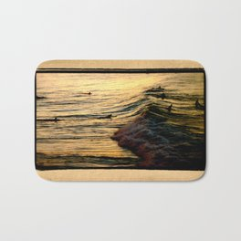 Sunset Wave Bath Mat