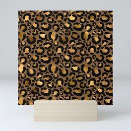Leopard Metal Glamour Skin Mini Art Print
