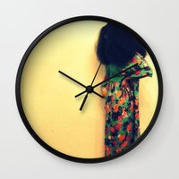 afro Wall Clocks featuring Afro by 2sweet4words Designs