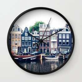 Street in Amsterdam Wall Clock