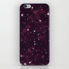 Burgundy Space iPhone & iPod Skin