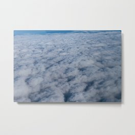 Beautiful cloudscape high up in the sky which look like soft clouds or cotton candy. Metal Print