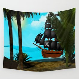 Turquoise Seas Wall Tapestry