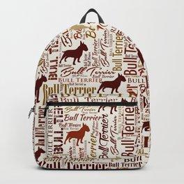 Bull Terrier Dog Word Art pattern Backpack