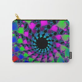 Colorful Fractal Pattern Carry-All Pouch