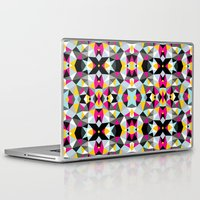 comic book Laptop & iPad Skins featuring Comic Book Tribal by Beth Thompson