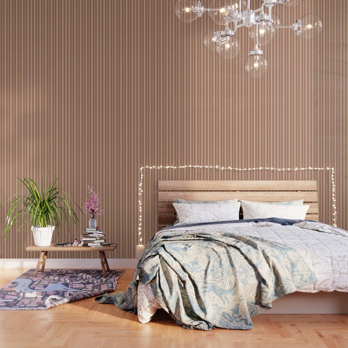 Cavern Clay Sw 7701 And Accent Colors Thick And Thin Vertical Lines Bold Stripes 1 Wallpaper By Pipafineart