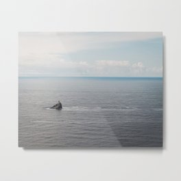 Lighthouse in the Sea Metal Print