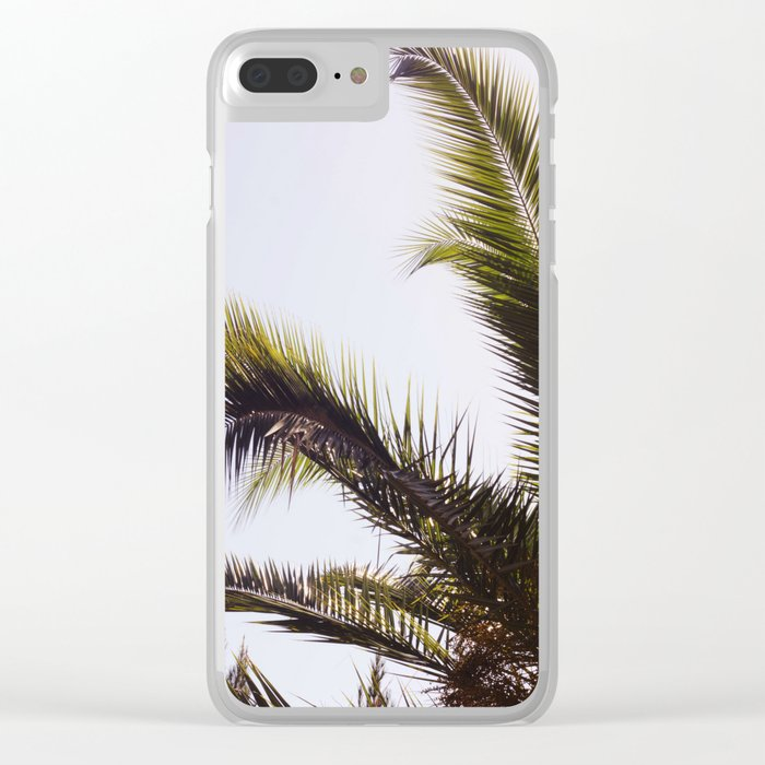 Palm Tree Leaf Me Clear iPhone Case