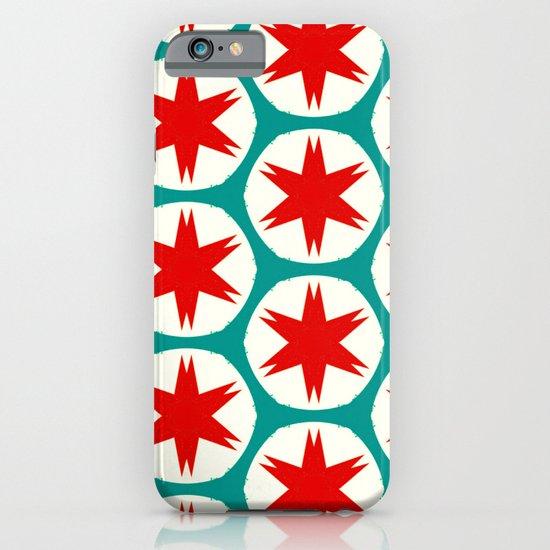 Retro Red Stars II iPhone & iPod Case