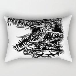 Waterbrushed Mutant Plant Rectangular Pillow