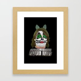 PUSSI KISS Framed Art Print