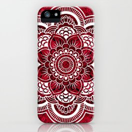 Mandala Red Colorburst iPhone Case