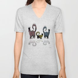 CASHMERE CATS Unisex V-Neck