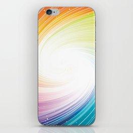 Rainbow background iPhone Skin