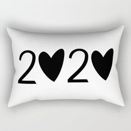 cute new year 2020 Rectangular Pillow