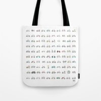 the 100 Tote Bags featuring 100 bikes by Yna Crez