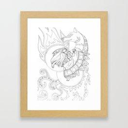 Creation of Saphelites Framed Art Print