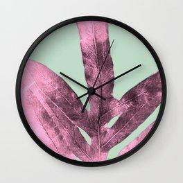 Sepia Fern Purple Wall Clock
