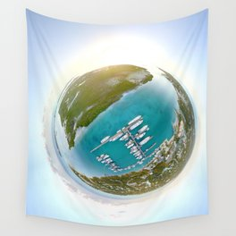 Tiny Planet Turks and Caicos Wall Tapestry