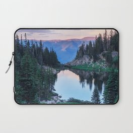 Hikers Bliss Perfect Scenic Nature View \ Mountain Lake Sunset Beautiful Backpacking Landscape Photo Laptop Sleeve