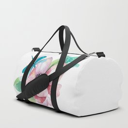 Butterfly and Dragonfly with Flowers Duffle Bag