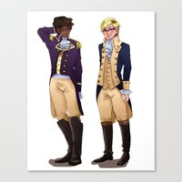 wtnv Canvas Prints featuring Cecil and Carlos by Dorothy Wonderland