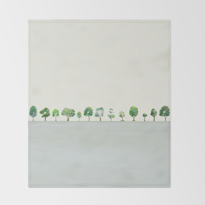A Row Of Trees Throw Blanket