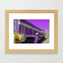 Purple, and other colors of existence Framed Art Print