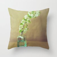 blossom Throw Pillows featuring Blossom by Jessica Torres Photography
