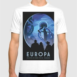 NASA Retro Space Travel Poster #4 - Europa T-shirt
