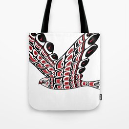 Red Tail Hawk Pacific Northwest Native American Style Art Tote Bag