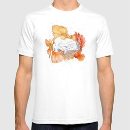 Cat and Golden Fishes T-shirt