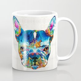 Colorful French Bulldog Dog Art By Sharon Cummings Coffee Mug
