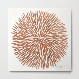 Rose Gold Burst Metal Print