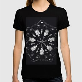 Circle of Brooms Magical Mandala T-shirt