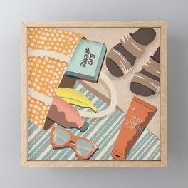 Beachy Flat Lay Framed Mini Art Print