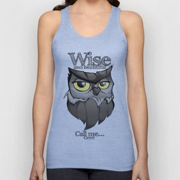 OWL! Wise and beautiful Unisex Tank Top