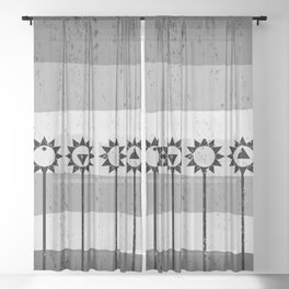 Tall Poppies Geometric Sheer Curtain
