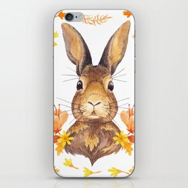 Autumn Rabbit iPhone Skin