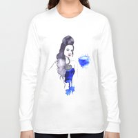 fashion illustration Long Sleeve T-shirts featuring fashion illustration by Rashmi Dagwar