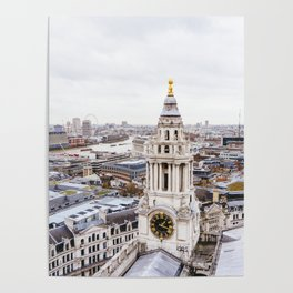 City View over London from St. Paul's Cathedral 2 Poster