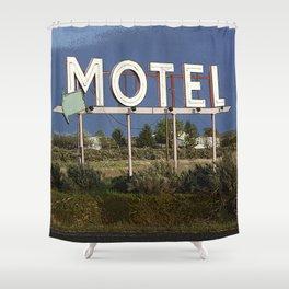 Vacancy Shower Curtain