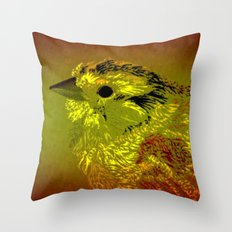 Amber Bird Throw Pillow