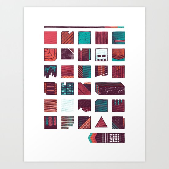 Swatches Art Print