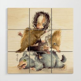Niffler babies Wood Wall Art